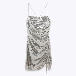 Zara Sparkly Mini Dress Size S